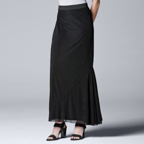 Women's Simply Vera Vera Wang Simply Separates Asymmetrical Maxi Skirt