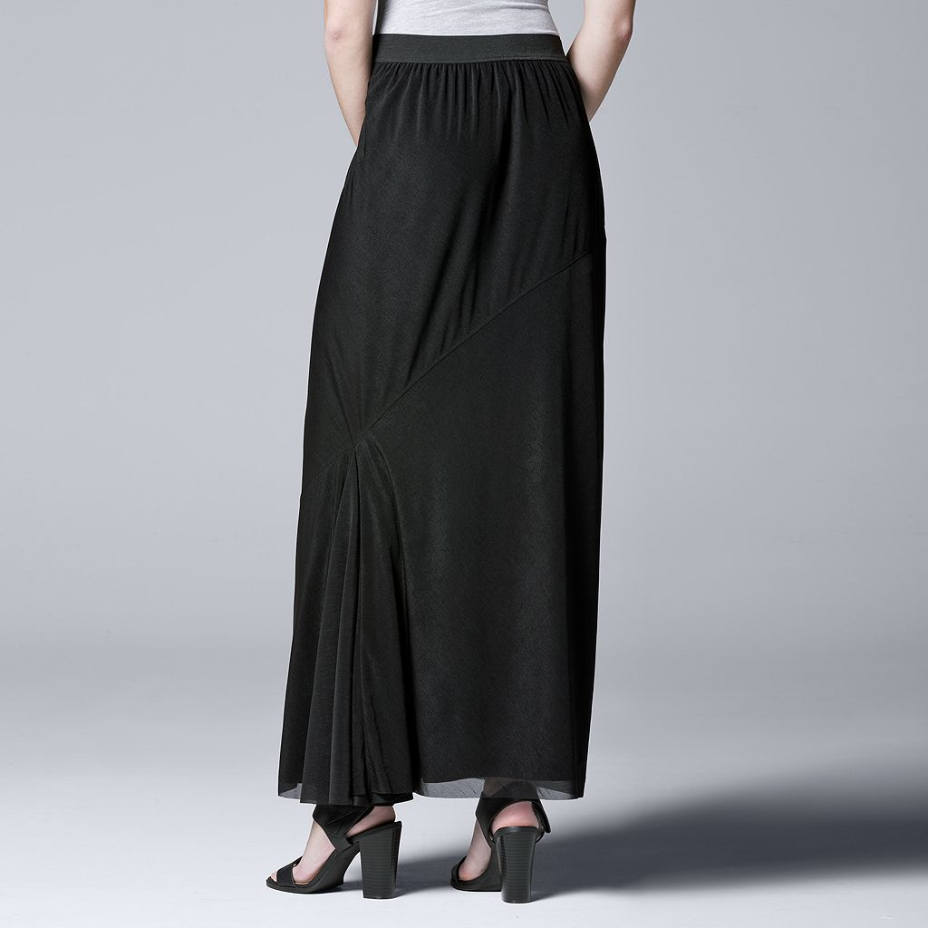 Women's Simply Vera Vera Wang Simply Separates Asymmetrical Maxi Skirt