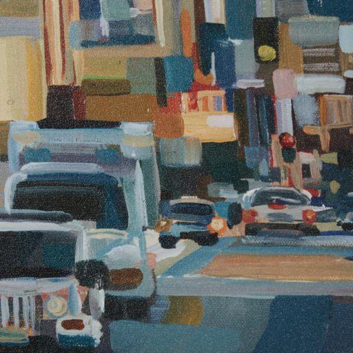 Madison Park Urban Street At High Noon Framed Canvas Wall Art
