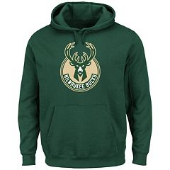 Men's Majestic Milwaukee Bucks Tek Patch Hoodie