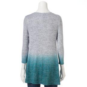 Women's SONOMA Goods for Life? Ombre V-Neck Tunic Sweater