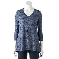 Women's SONOMA Goods for Life™ Ombre V-Neck Tunic Sweater
