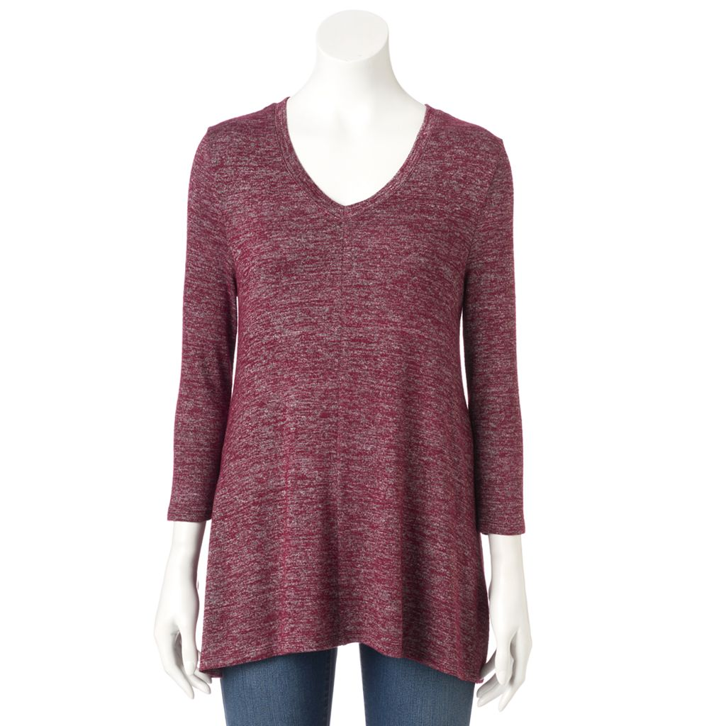 Women's SONOMA Goods for Life™ Ombre V-Neck Tunic Sweater