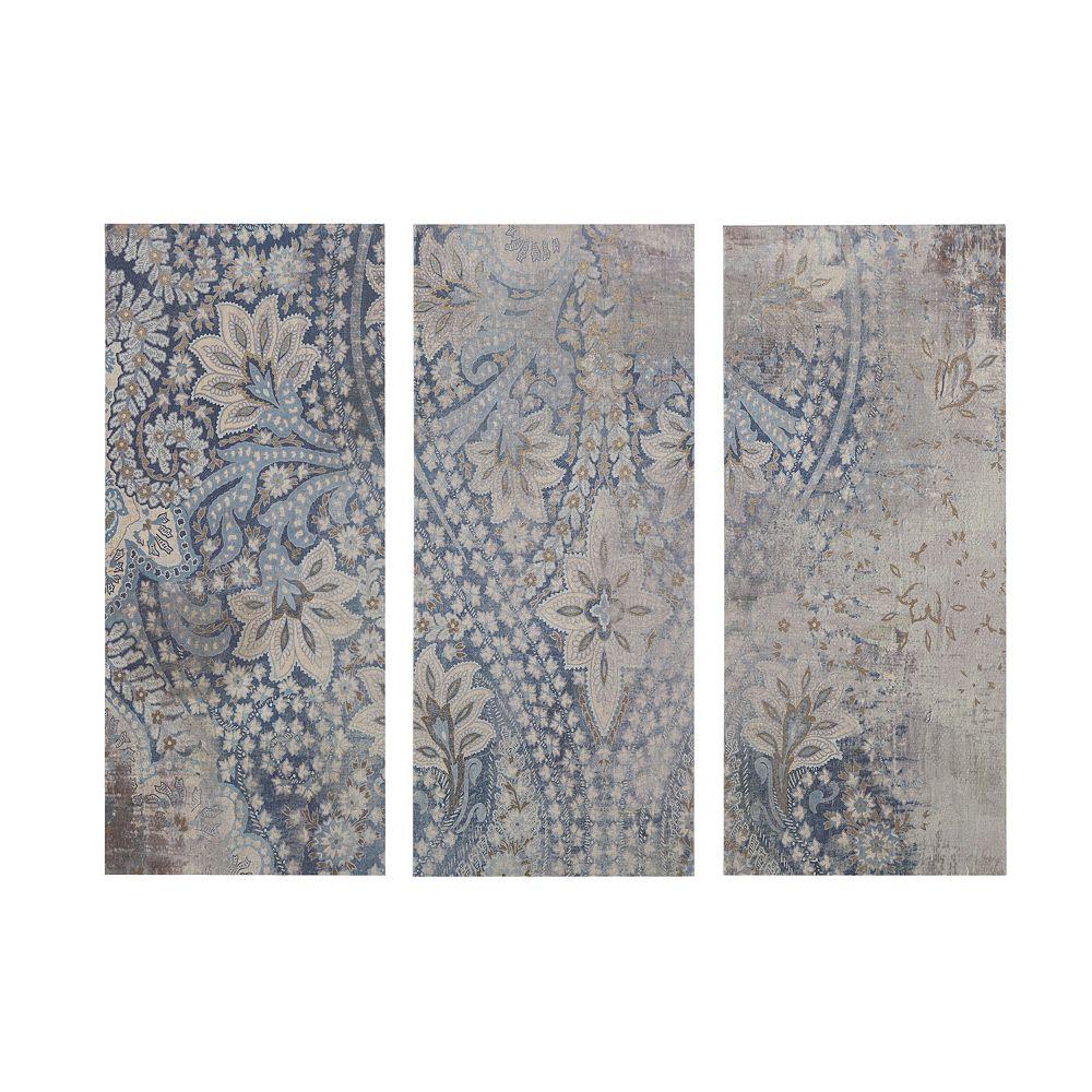 Madison Park Weathered Damask Walls Linen Wall Art 3-piece Set