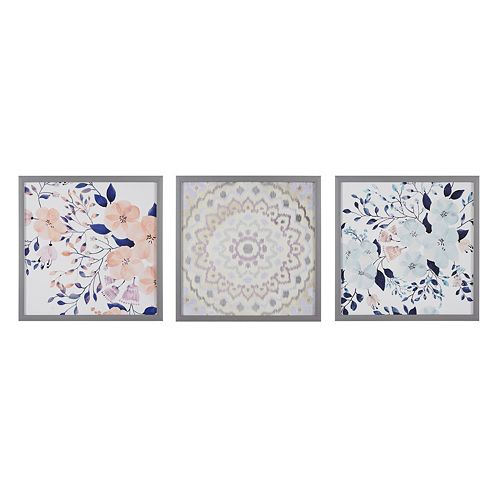 Madison Park Summer Bliss Floral Framed Wall Art 3-piece Set