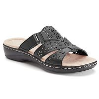 Croft & Barrow Women's Cutout Slide Sandals (Multiple Colors)