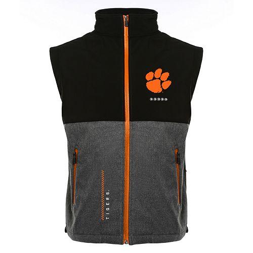 Men's Franchise Club Clemson Tigers Fusion Softshell Vest