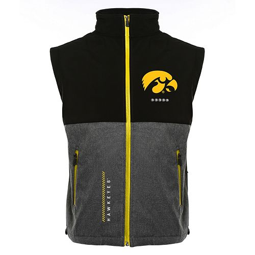 Men's Franchise Club Iowa Hawkeyes Fusion Softshell Vest