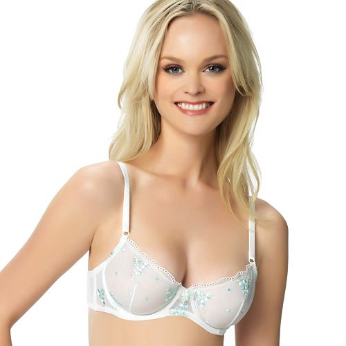Jezebel Bra: Maggie Embroidered Floral Unlined Bra 10010