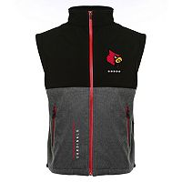 Men's Franchise Club Louisville Cardinals Fusion Softshell Vest