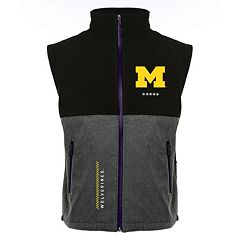 Men's Franchise Club Michigan Wolverines Fusion Softshell Vest