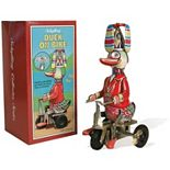 Schylling Wind-Up Duck On Bike Collectible Figure