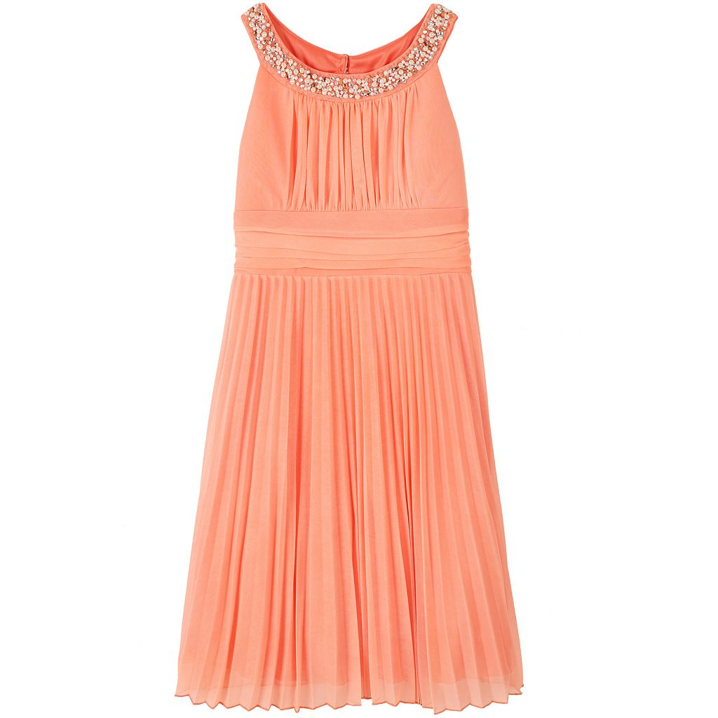 Girls 7-16 Speechless Chiffon Embellished Halter Dress