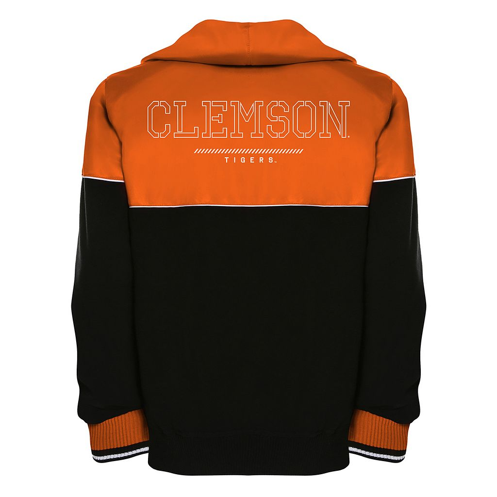 Men's Franchise Club Clemson Tigers Shield Reversible Hooded Jacket