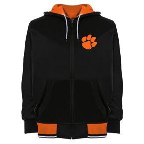 Men's Franchise Club Clemson Tigers Shield Reversible Hooded Jacket