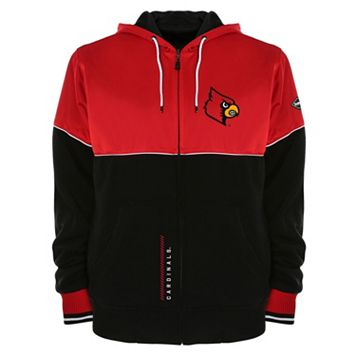 Men's Franchise Club Louisville Cardinals Shield Reversible Hooded Jacket