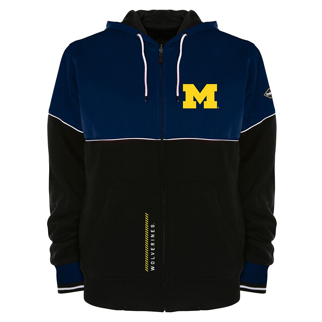 Men's Franchise Club Michigan Wolverines Shield Reversible Hooded Jacket