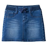 Girls 4-12 SONOMA Goods for Life™ Ribbed Waist Jean Skort
