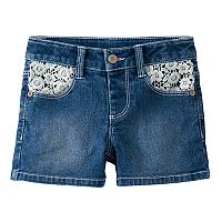 Girls 4-12 SONOMA Goods for Life™ Crocheted Pocket Denim Shorties