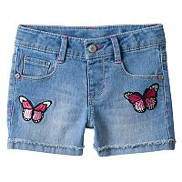 Girls 4-12 SONOMA Goods for Life™ Butterfly Patch Jean Shorts