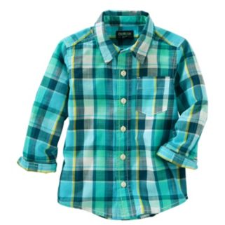 Boys 4-8 OshKosh B'gosh® Plaid Button-Down Shirt