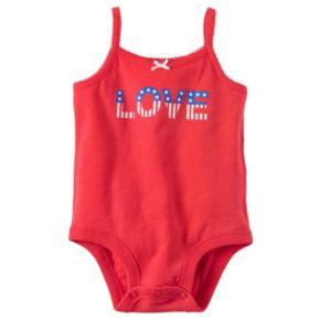 "Baby Girl Carter's ""LOVE"" Patriotic Bodysuit"