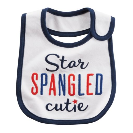 "Baby Carter's ""Star Spangled Cutie"" Embroidered Bib"