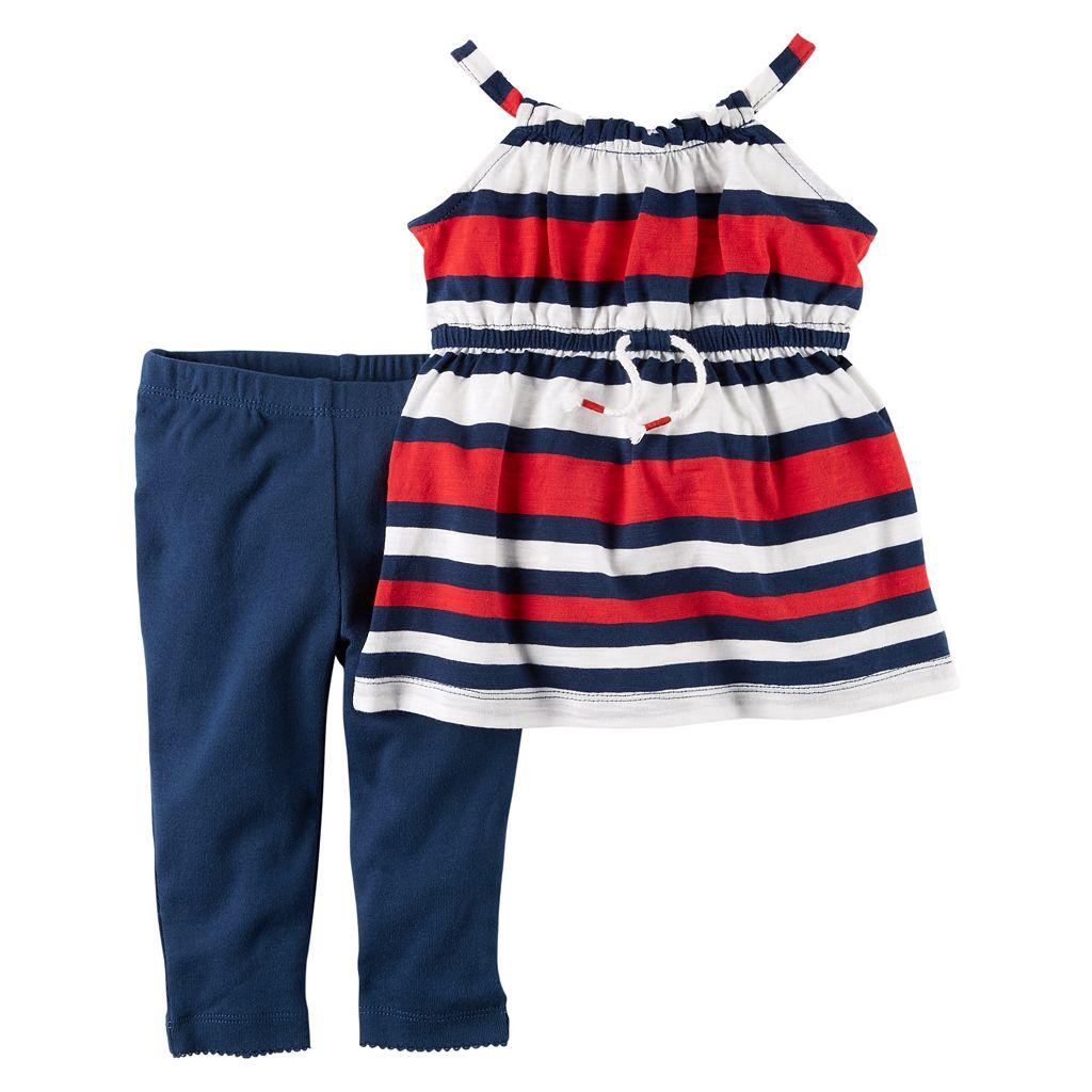 Baby Girl Carter's Striped Tunic & Leggings Set