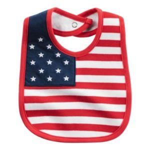 Baby Carter's American Flag Bib