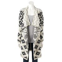 Women's Olivia Sky Geometric Long Cardigan
