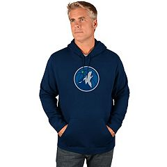 Men's Majestic Minnesota Timberwolves Tek Patch Hoodie