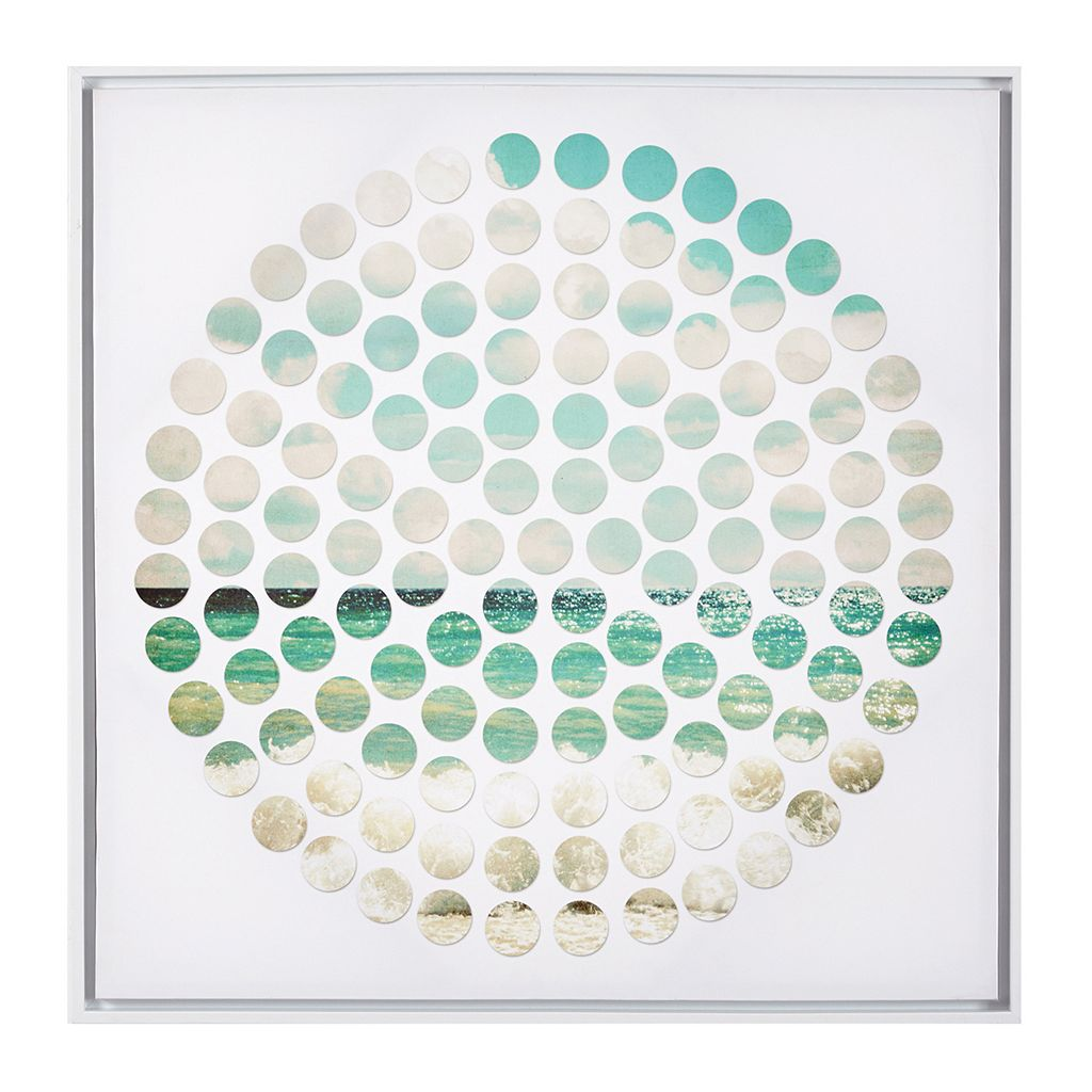 INK+IVY Aqua Ocean Tides Framed Canvas Wall Art