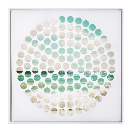 INK+IVY Aqua Ocean Tides Framed Canvas Wall Art