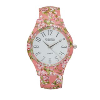 Embassy by Gruen Women's Floral Bangle Watch