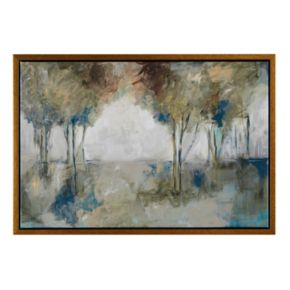 Madison Park Muted Trees At Dusk Framed Canvas Wall Art