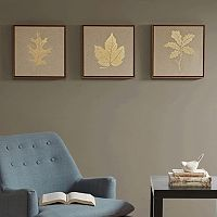 Madison Park Golden Harvest Framed Linen Wall Art 3-piece Set
