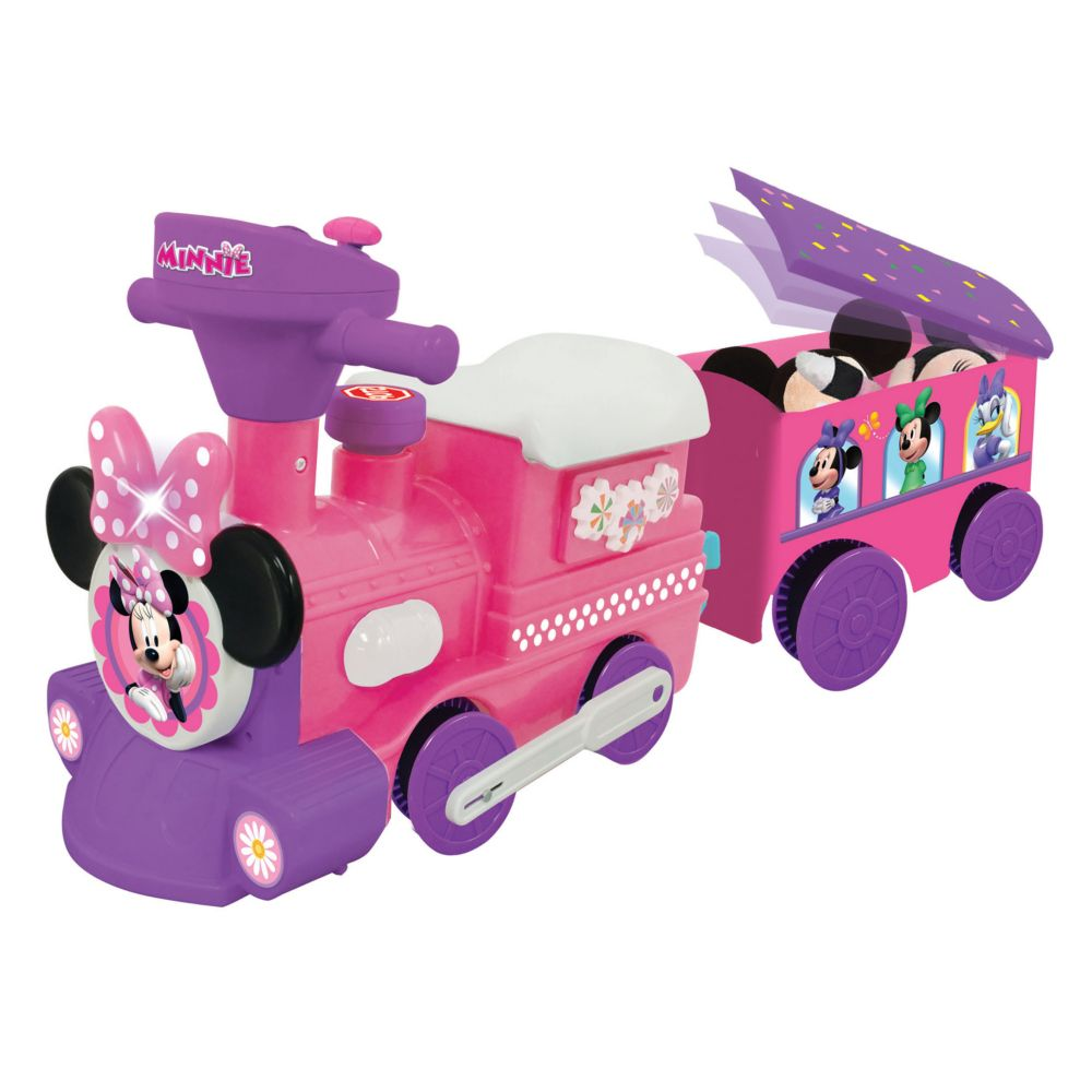 Disney S Minnie Mouse Ride On Motorized Train By Kiddieland
