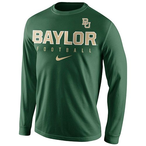 Men's Nike Baylor Bears Football Practice Long-Sleeve Tee
