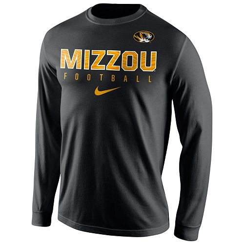 Men's Nike Missouri Tigers Football Practice Long-Sleeve Tee