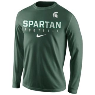 Men's Nike Michigan State Spartans Football Practice Long-Sleeve Tee