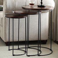 Round Nesting Table 3-piece Set