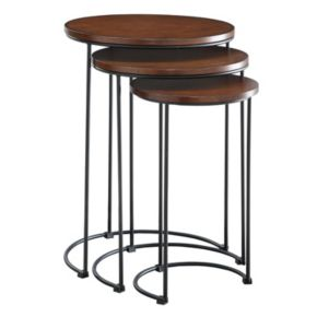 Round Nesting Table 3-piece Set