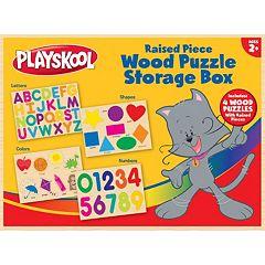 Playskool Wood Puzzle Storage box by