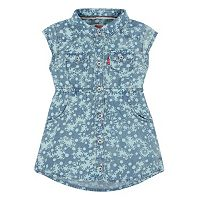 Baby Girl Levi's Flower-Print Denim Dress