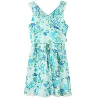 Girls 7-16 Speechless Floral Ruffled Surplice Dress