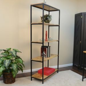 Brayden Modern Rustic Bookshelf