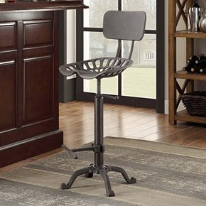 August Industrial Bar Stool