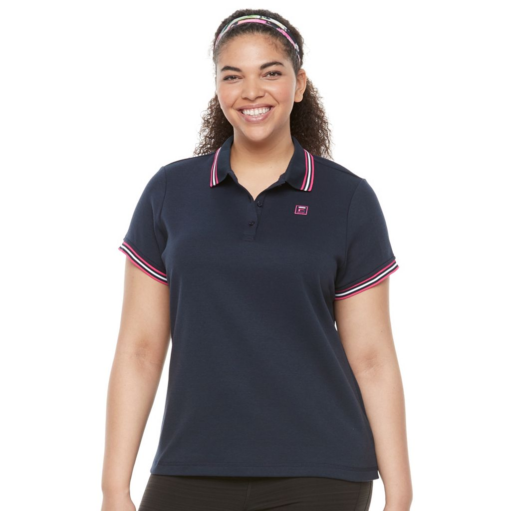 Plus Size FILA SPORT® Striped-Trim Polo
