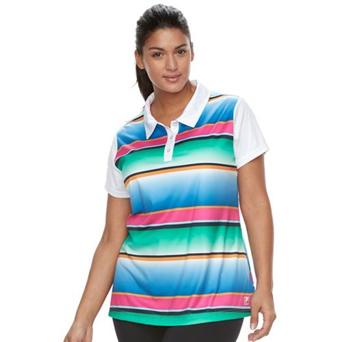 Plus Size FILA SPORT® Printed Golf Polo