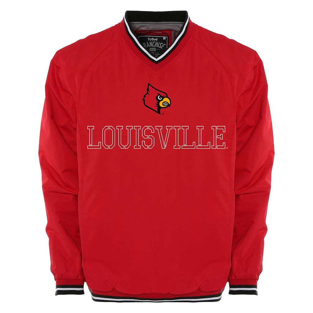 Men's Franchise Club Louisville Cardinals Trainer Windshell Pullover
